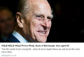 death of Prince Philip ...