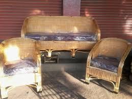 solid cane designed sofa set with free