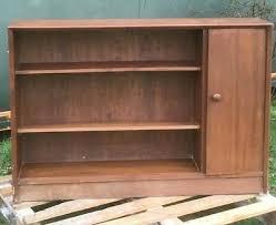 vintage retro 1950s 1960s oak cabinet