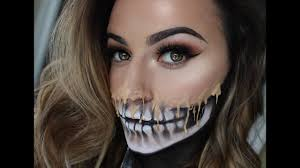 how to do half skull face makeup