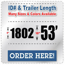 Fleet Number Truck Decals Trailer Length Vehicle Id Number Stickers