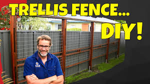 How To Build A Trellis Fence Awesome Easy To Build Project Youtube