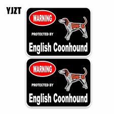 Yjzt 15 11 4cm 2x English Coonhound Guard Dog Funny Car Sticker Car Window Decal C1 4307 Car Window Decals Window Decalsfunny Car Aliexpress