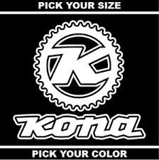 Kona Bikes Vinyl Sticker Decal Mtb Gravel Bicycle Mountain Downhill Ebay