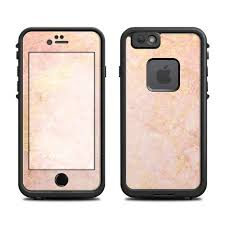 Skin For Lifeproof Iphone Case Rose Gold Marble Sticker Etsy