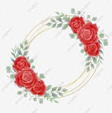 إطار دائرة ذهبية مع وردة للزينة دعوة الزفاف ناقلات مجانية زفاف