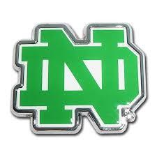 University Of Notre Dame Chrome And Color Car Emblem I Americas Flags