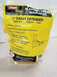 Baygard By Parkmak Electric Fence Insulator 3 T Post Extenders Ebay