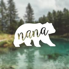 Nana Bear Vinyl Decal Water Bottle Decal Car Window Decal Etsy