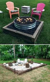 fire pit red brick outdoor patio making