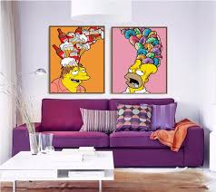 Cartoon Simpsons Beer Donut Nordic Wall Art Canvas Painting Pop Art Wall Pictures For Kids Room Boy Decor Painting Calligraphy Aliexpress