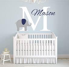 Amazon Com Pinkie Penguin Custom Name Elephant Wall Decal Baby Boy Nursery Decor Vinyl Art 26 W X 18 H Home Kitchen
