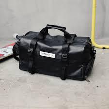 cool mens black large pu leather travel