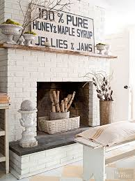 painted diy brick fireplace makeover