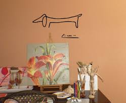 Picasso Dog Wall Decal Art Trading Phrases
