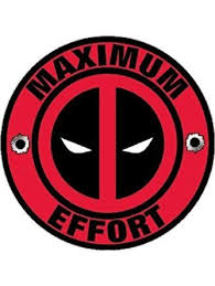 Deadpool Decal Maximum Effort Vinyl Sticker Aj S Signs Apparel Maximum Effort Vinyl Sticker Deadpool Logo