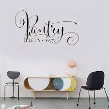 Amazon Com Oldeisa Vinyl Wall Statement Family Diy Decor Art Stickers Home Decor Wall Art Pantry Let S Eat Pantry Decal For Door Home Kitchen