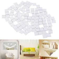 uk 100x self adhesive mirror tile 3d
