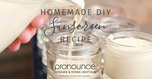 diy sunscreen recipe easy to make