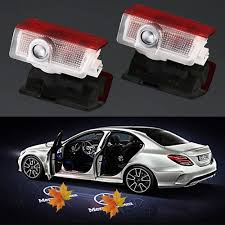 Amazon Com Car Door Led Logo Projector Light Easy To Install 3d Ghost Shadow Courtesy Step Light Welcome Emblem Lamp For Mercedes Benz Series Automotive