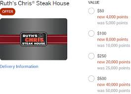 50 ruth s chris gift cards
