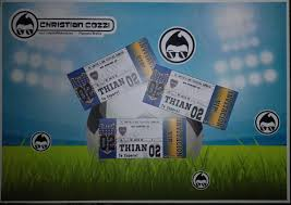 Invitaciones Tipo Ticket Entrada Futbol X12 Unid 160 00 En