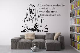 gandalf head serious pattern art wall decals quotes the
