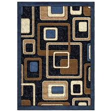 abstract area rug 807 in beige blue