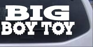Big Boy Toy Car Or Truck Window Decal Sticker Rad Dezigns