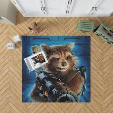 Guardians Of The Galaxy Vol 2 Movie Groot Marvel Comics Rocket Raccoon Bedroom Living Room Floor Carpet Rug Ebeddingsets