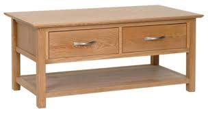 new england 2 drawer coffee table