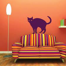 Black Cat Silhouette Halloween Decorations Vinyl Wall Vinyl Decor Wall Decal Customvinyldecor Com