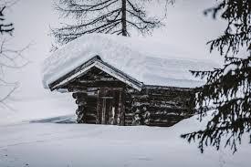 كوخ خلفية خشبية ثلج تساقط ثلوج Hd الشتاء عريضة عالية