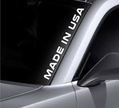 Product Made In Usa Windshield Sticker Vinyl Window Decal Car Sticker Fits Ford Mustang