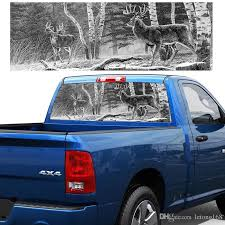2020 Forest Hunting Deer Pickup Truck Rear Window Decal Suv Car Sticker From Letong168 20 1 Dhgate Com