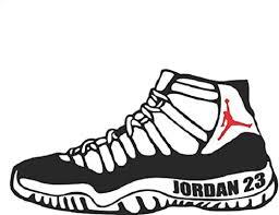 Amazon Com Jordan Retro 11 Shoe Sneaker Flight 23 Michael Basketball Nba Logo Vinyl Decal Sticker Car Window Laptop Wall Mac Sports Outdoors