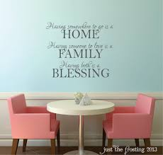 Home Family Blessings Wall Decal Family Vinyl Wall Decal Etsy