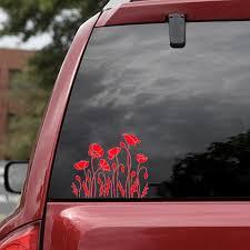 Poppy Flowers Car Stickers Beauty Temptation Decor Car Truck Motorcycle Suvs Bumper Window Decal Sticker Car Accessories Car Stickers Aliexpress