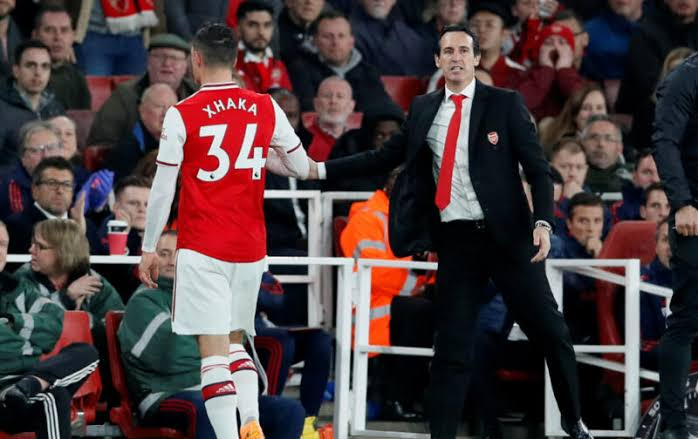 Image result for unai emery AND GRANIT XHAKA""