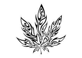 Tribal Weed Leaf Die Cut Vinyl Sticker Decal Blasted Rat