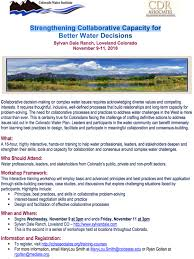 """Workshop: """"Strengthening Collaborative Capacity for Better Water ..."""