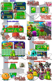 Kit Imprimible Plantas Vs Zombies 2 Invitaciones Jose Luis