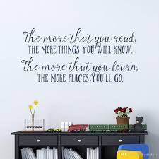 More You Know Quote Wall Decal Nursery Childs Room Wall Art Inspirational Vinyl Wall Sticker Reading Book Lover Quotes Nursery Wall Stickers Order Wall Decals From Joystickers 9 95 Dhgate Com