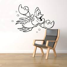 Amazon Com Sebastian Crab Wall Decal Little Mermaid Vinyl Sticker Kids Playroom Fairy Tale Decor Home Interior 89nr Home Improvement