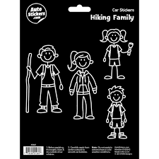 Hiking Family Stickers Decalcomania