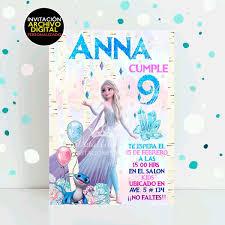 Invitacion Frozen 2 Elsa Y Bruni Digital Cumpleanos 70 00 En