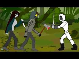 Clockwork And Ticci Toby Vs The Fencer Trevor Handerson Creature Drawing Cartoons 2 Youtube