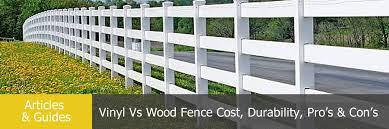 Vinyl Vs Wood Fence Comparison Of Cost Durability Pro S Con S