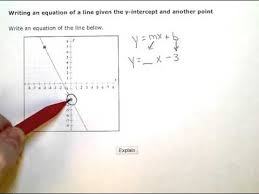 writing an equation of a line given the