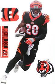Amazon Com Sp Images Inc Joe Mixon Bengals Fathead Teammate Sticker Wall Decal 8x16 5 Sports Outdoors